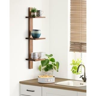 Kate and Laurel  Udell Floating Wood Wall Shelf - 3 Shelves