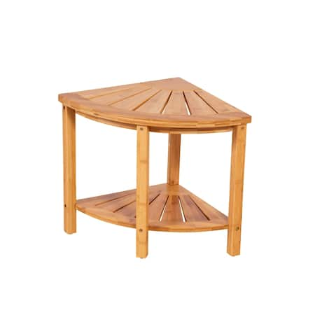 Solid Bamboo Spa Style Corner Bench