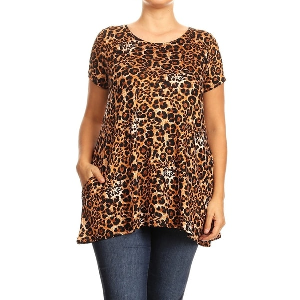 Women's Pattern Print Basic Casual Plus Size Tunic Top. Opens flyout.