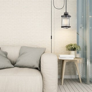 Link to Galaxias Dark Bronze Plug-in or Hardwire Pendant Light by Havenside Home Similar Items in Outdoor Ceiling Lights