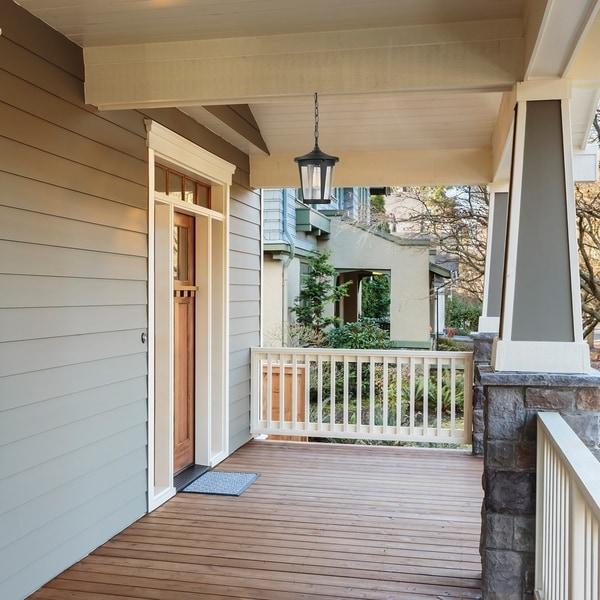 Grayling 1-light Black Outdoor/Indoor Pendant by Havenside Home. Opens flyout.