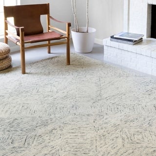 Link to Alexander Home Aspen Sky Hand-Tufted Contemporary Wool Rug Similar Items in Farmhouse Rugs
