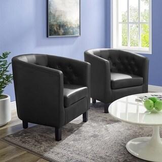 Prospect Upholstered Vinyl Armchair Set of 2