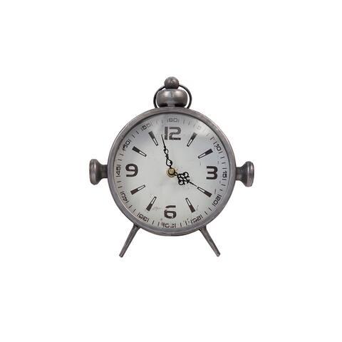 DesignStyles Metal Vintage Desk Clock
