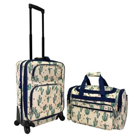 Desert Cactus 2-Pc. Pattern Softside Luggage Set