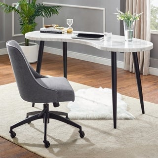 Knox White Marble Top 2-Piece Desk Set by Greyson Living