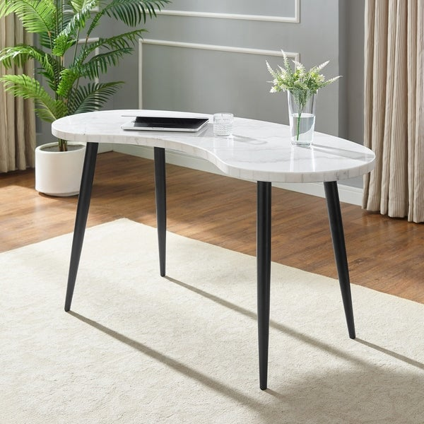 Knox White Marble Top Desk by Greyson Living