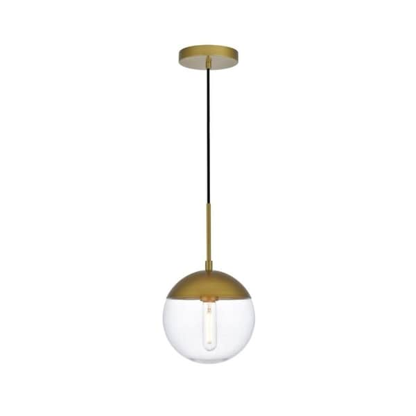 1-Light Pendant with 8 inch Clear Glass (As Is Item)