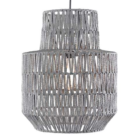 "Woven Rope Hanging Pendant Lamp (16"" x 12.5"")"