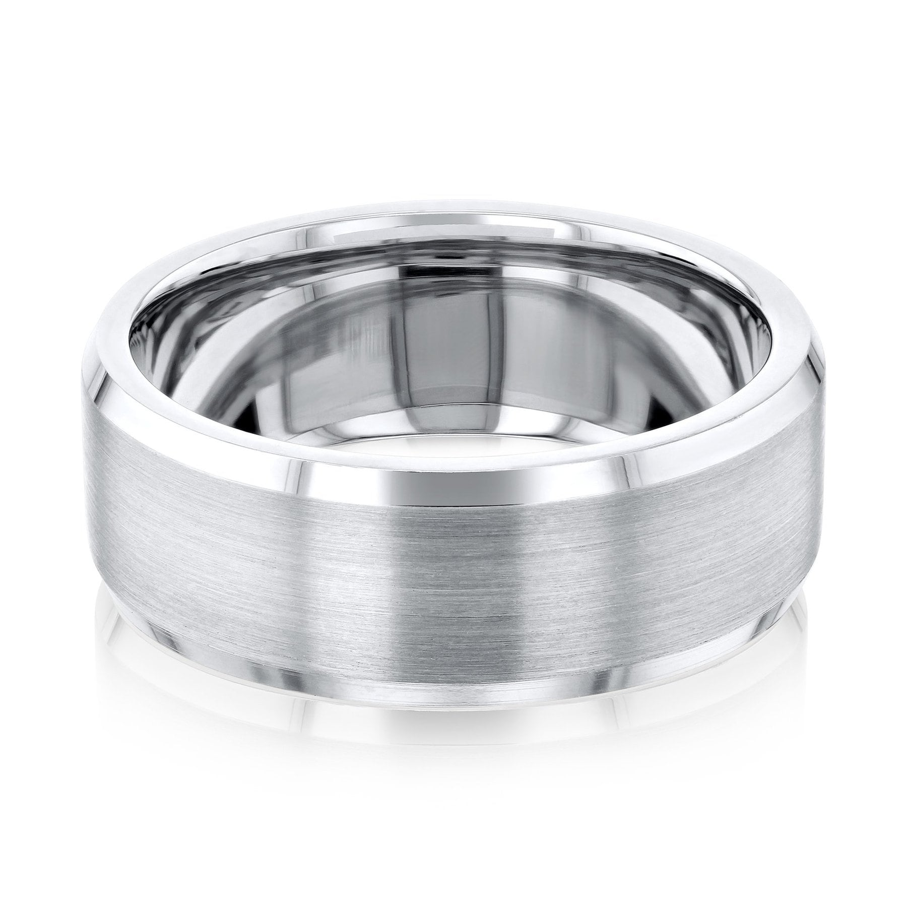925 Sterling Silver 6mm Bevel Edge Size 13 Wedding Ring Band Classic Beveled Comfort Fit Fine Jewelry For Women Gift Set