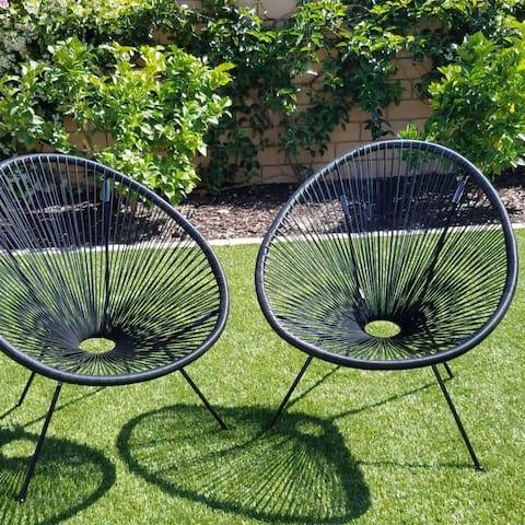 Tenir Black Resort Grade Chairs (Set of 2) by Havenside Home