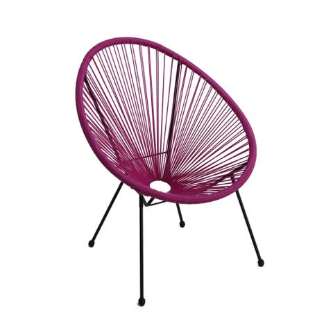 Tenir Light Purple Outdoor Patio Chair by Havenside Home