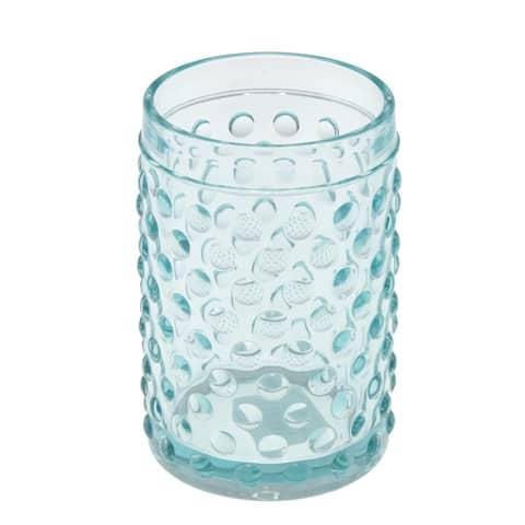 Creative Home Embossed Dot light blue Glass Tumbler