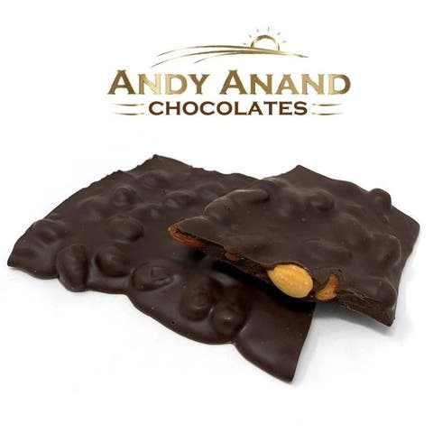 Andy Anand Belgian Chocolate Almond Bark Sugar Free Bridge Gift Box 1 lbs