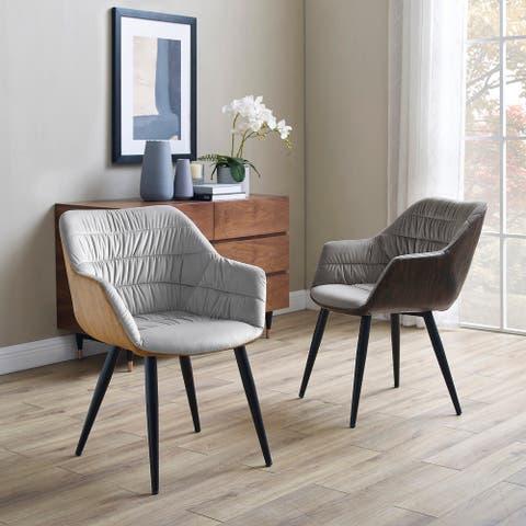 Art-Leon Fashional Upholstery Armrest Accent Desk Chair