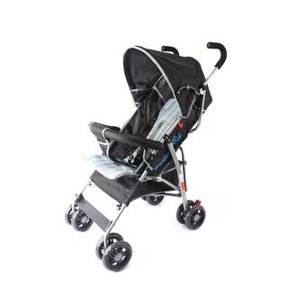 Link to Wonder Buggy Dakota Baby Stroller with Bumper,Basket & Rounded Canopy - Solid Black Similar Items in Strollers