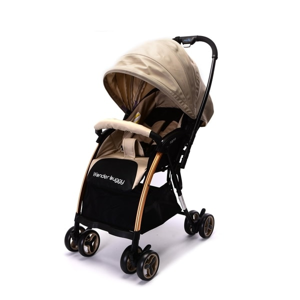 WonderBuggy Ultralight One Hand Fold Compact Stroller with Reversible Handle. Opens flyout.