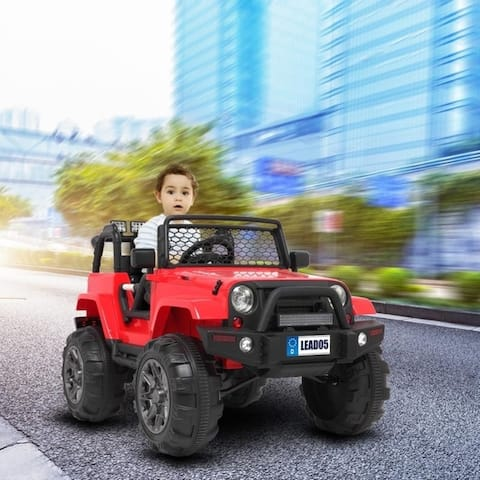 LEADZM Electric Remodeled Jeep Ride on Kids Car 45W * 2 Battery 12V 7AH Powered Vehicle With Remote Control
