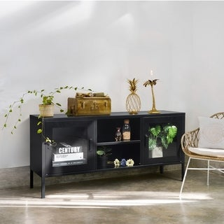 Copper Grove Ronague Metal TV Console (Black or White)