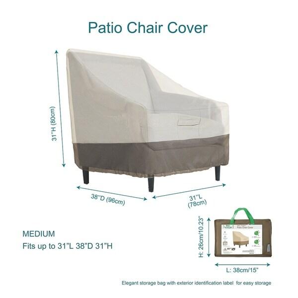 Waterproof Patio Lounge Chair/Club Chair Cover, Medium, L31 x D38 x H31