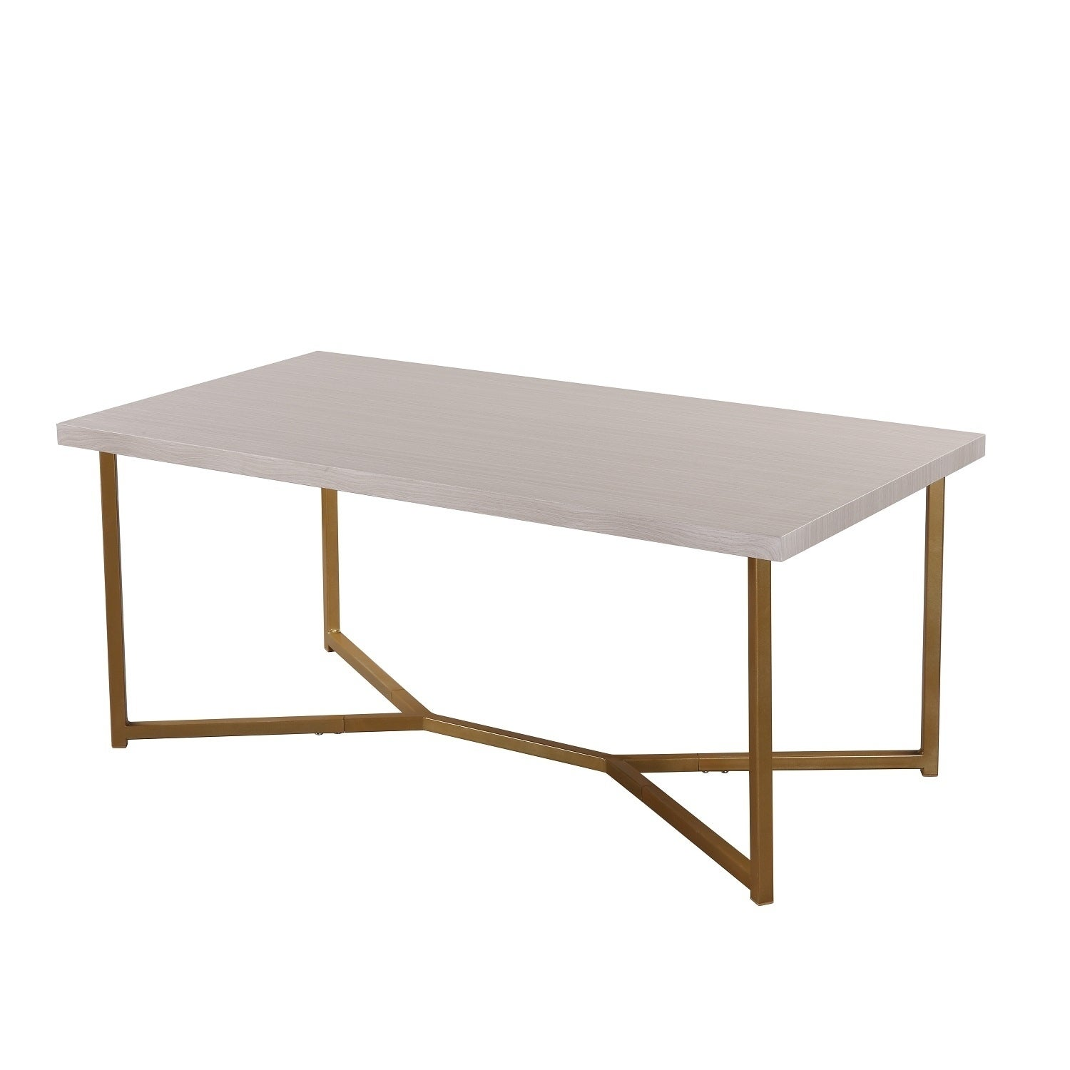Merax Marble Wooden Coffee Table With Stylish Y Leg Base