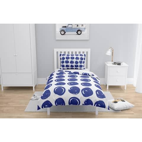 CLAY CIRCLE BRIGHT BLUE Comforter by Kavka Designs