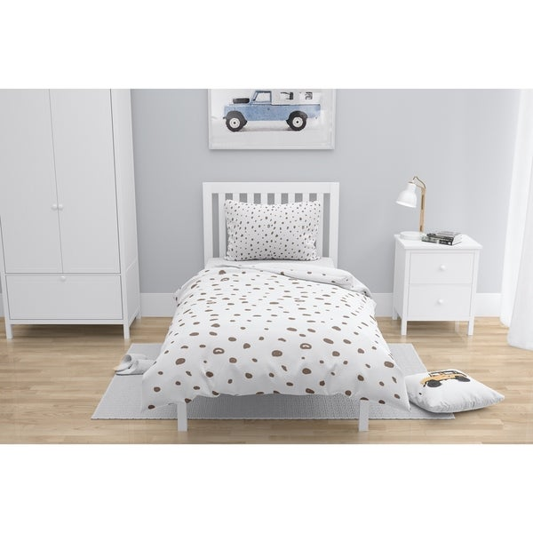 DAVID SMALL DOTS BROWN Comforter by Kavka Designs. Opens flyout.