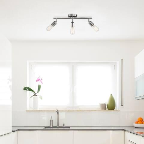Porch & Den Encorvada Chrome 3-light Track Lighting Kit