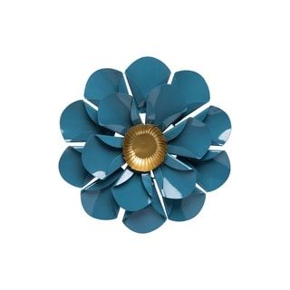 Foreside Home and Garden Mallory Wall Flower Small