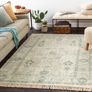 Betsy Handmade Persian Floral Cotton Area Rug