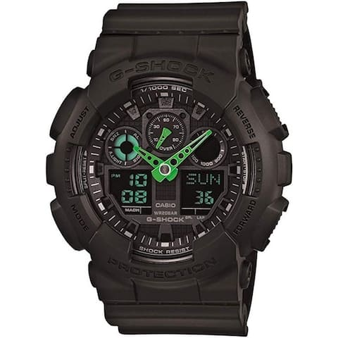 Casio GA-100C-1A3ER Men's XL Series G-Shock Watch, Black, 51.2mm