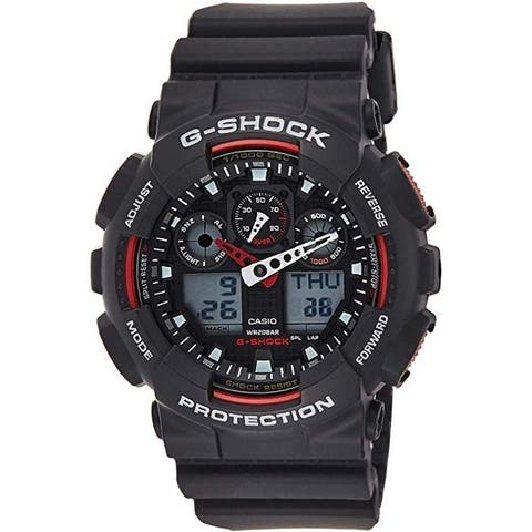 Casio G-Shock GA 100 Black - GA-100-1A4R Watch