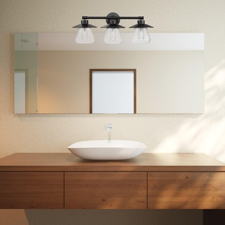 DEWENWILS 3-Light Vanity Light Fixtures 5-Piece All-in-One Bathroom Set HHVL01C