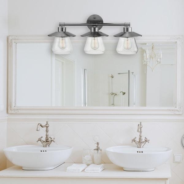 Porch & Den Del Puente 5-piece Vanity Light and Bathroom Accessory Set. Opens flyout.