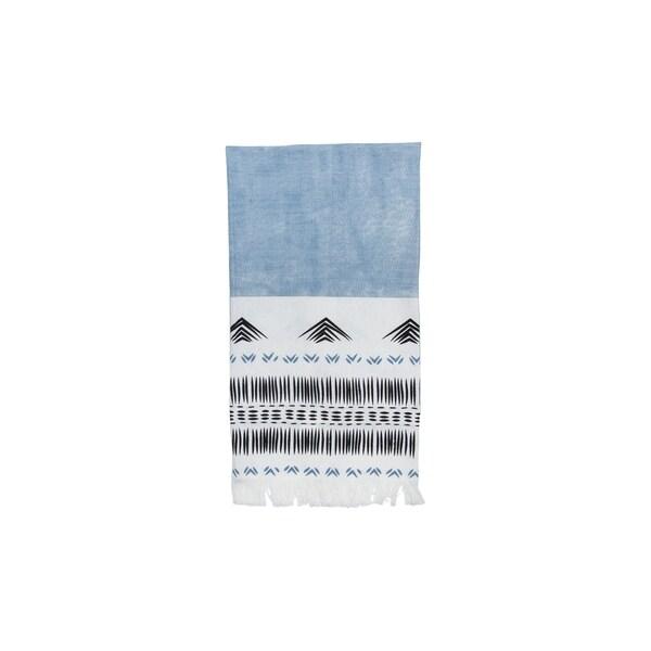 Foreside Home and Garden Hand Woven Niko Tea Towel Blue