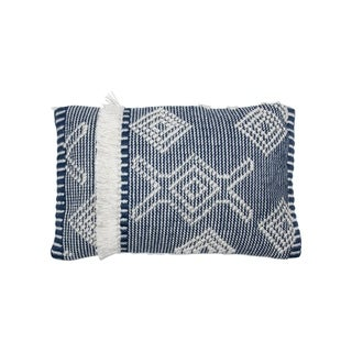 The Curated Nomad Avila 14x22 Handwoven Lumbar Pillow