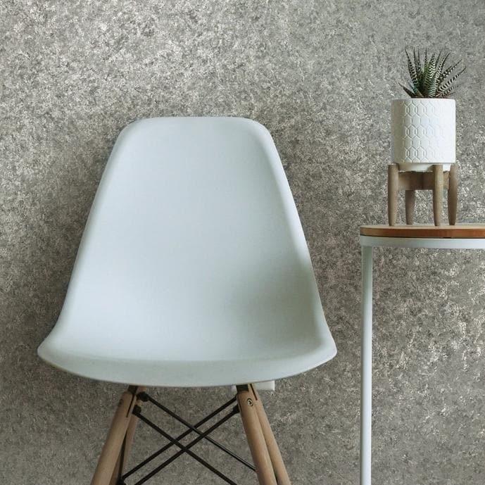 Shop Textured Wallpaper Gray Silver Metallic Foil Plain Modern