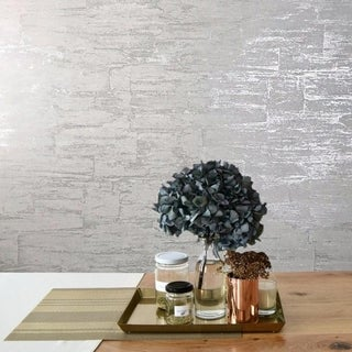 Modern Wallpaper roll plain snow white metallic wall coverings embossed stone 3D