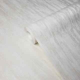 Modern Wallpaper Plain ivory cream rustic texture metallic faux plaster Textured