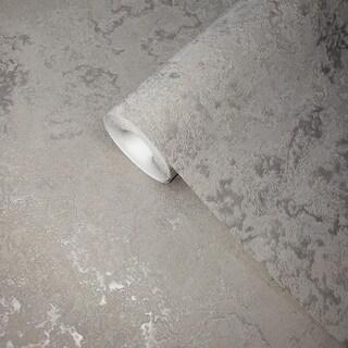 Wallpaper Silver Gray metallic textured modern plain faux plaster textures rolls