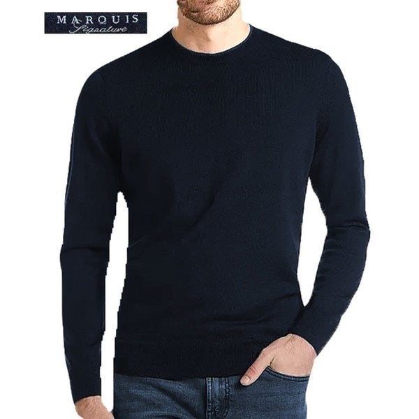 Marquis Mens 100% Cotton Size X-Large Sweater Navy
