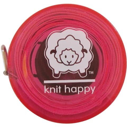 "K1C2 Knit Happy Tape Measure 60""-Pink, KH652-PI"