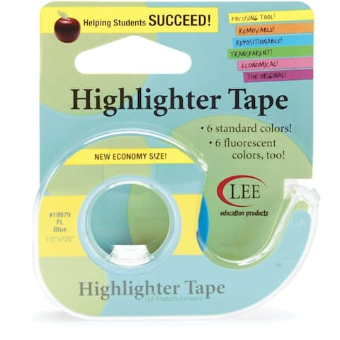 "Lee Products Fluorescent Highlighter Tape .5""X720""-Blue, 199-79"