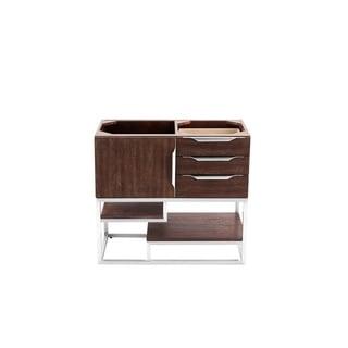 """Columbia 36"""" Single Vanity, Coffee Oak with Brushed Nickel Hardware By James Martin Vanities"""