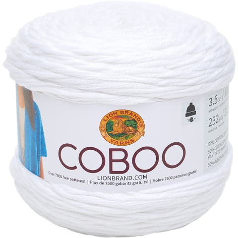 Lion Brand Coboo-White