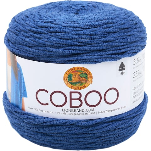 Lion Brand Coboo-Steel Blue