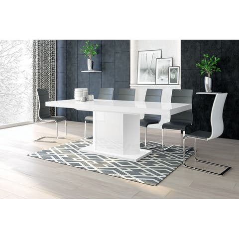 MIAGO Extendable Dining Table with storage
