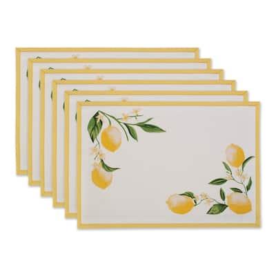 """DII Lemon Bliss Kitchen Textiles, 13x19"""", Lemon Bliss, 6 Pieces"""