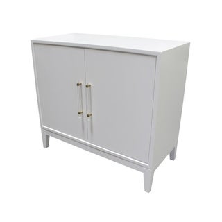 Best Master Furnitures White Lacquer Wood Multi-Use Cabinet