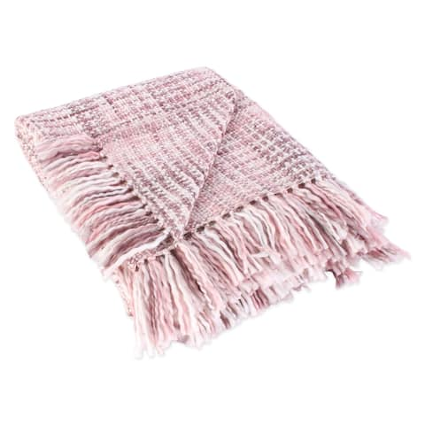 """DII Acrylic Woven Throw, 50x60"""" with 3"""" Fringe"""